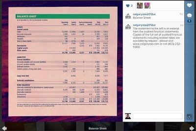 Calgary Zoo Annual Report balance sheet
