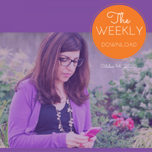 The Weekly Download – October 14, 2016