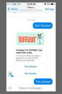 TIFFBOT - Facebook Messenger Chat
