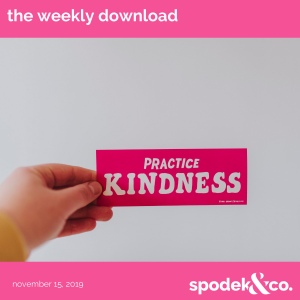 The Weekly Download – November 15, 2019