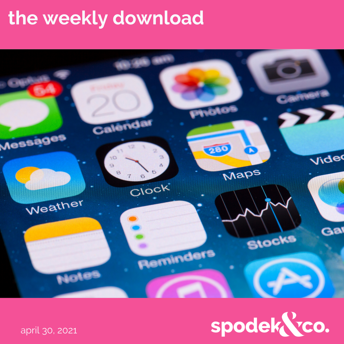 The Weekly Download – April 30, 2021
