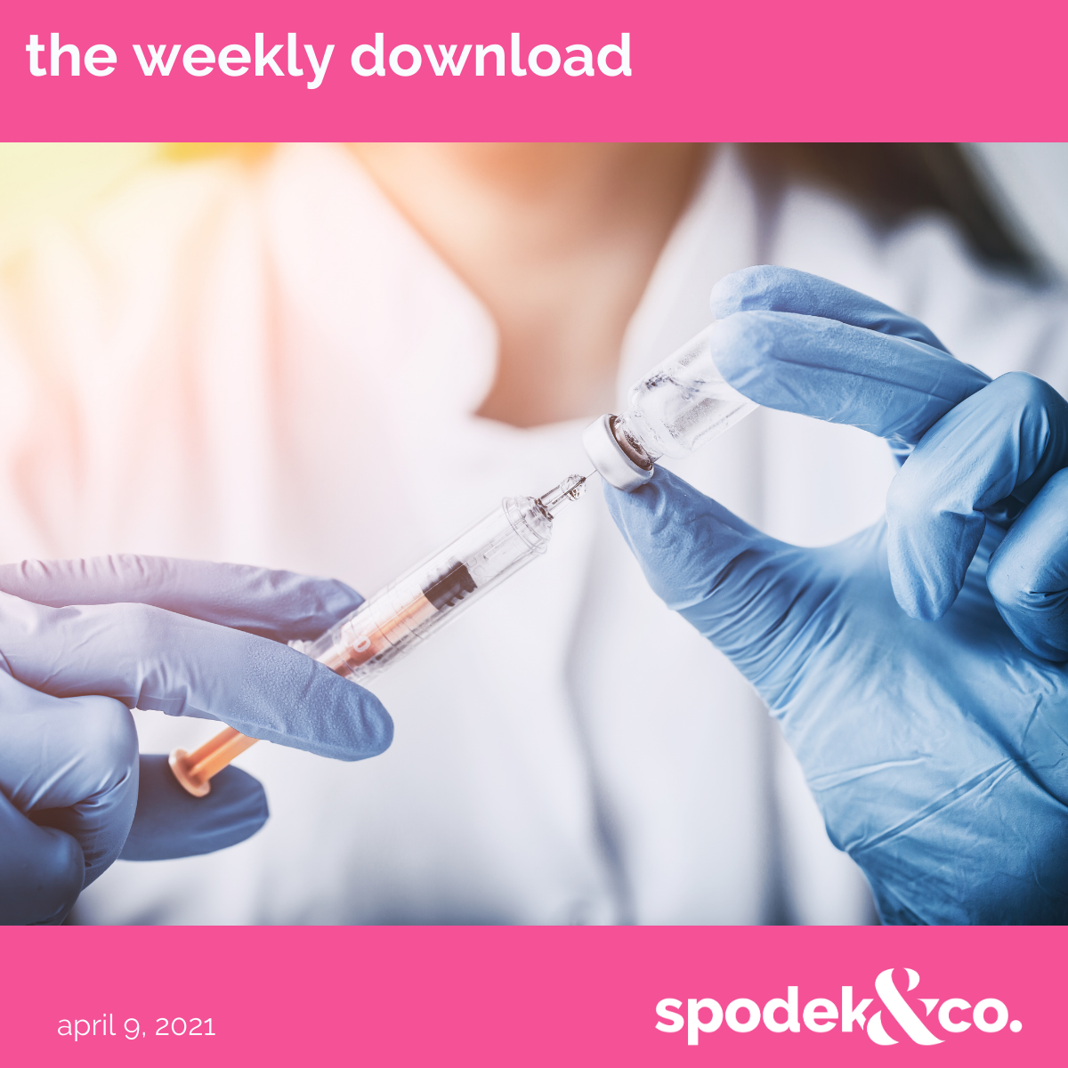 The Weekly Download – April 9, 2021