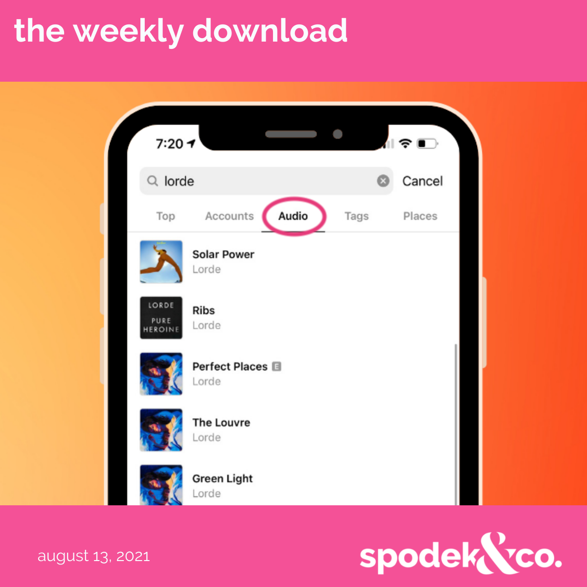 The Weekly Download – August 13, 2021