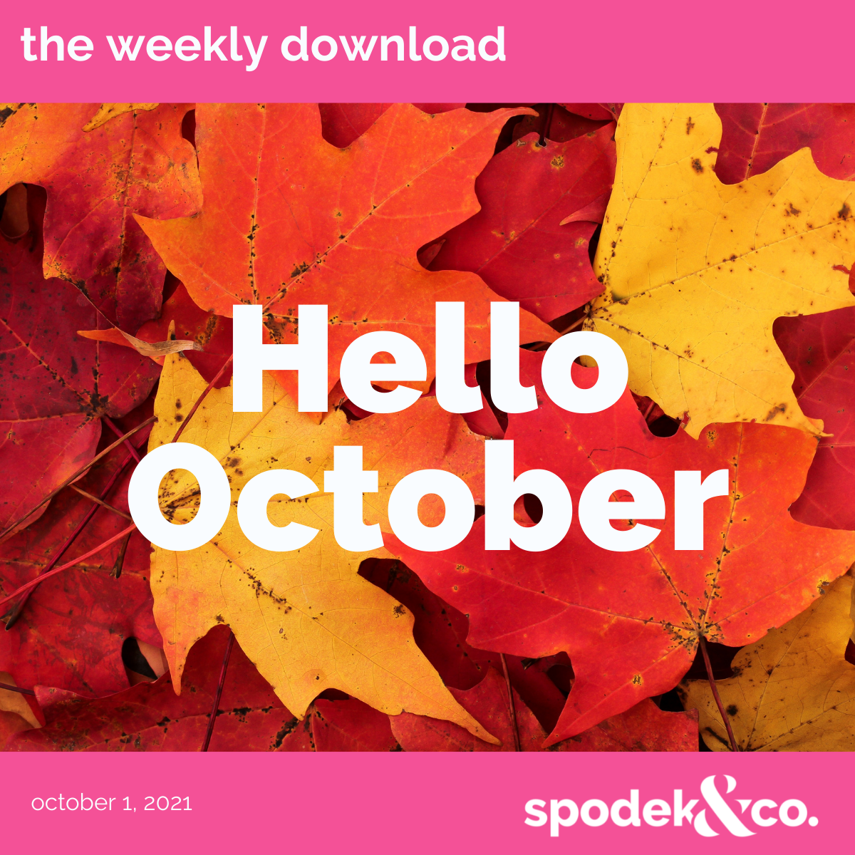 The Weekly Download – October 1, 2021